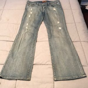 Seven7 bootcut distressed jeans